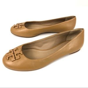 Tory Burch Lowell Leather Ballet Flat Blond Tan